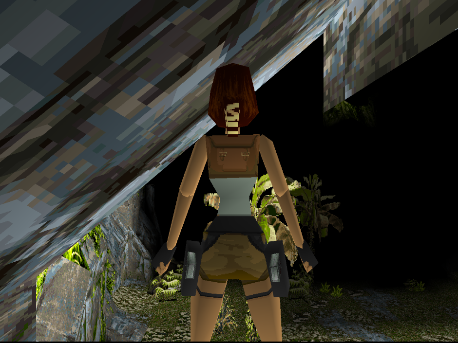 Picture of Tomb Raider with nearest point filtering