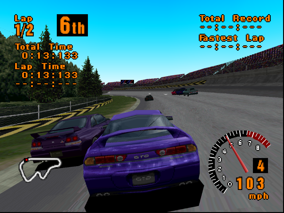 Gran Turismo 1 with the experimental GL renderer.