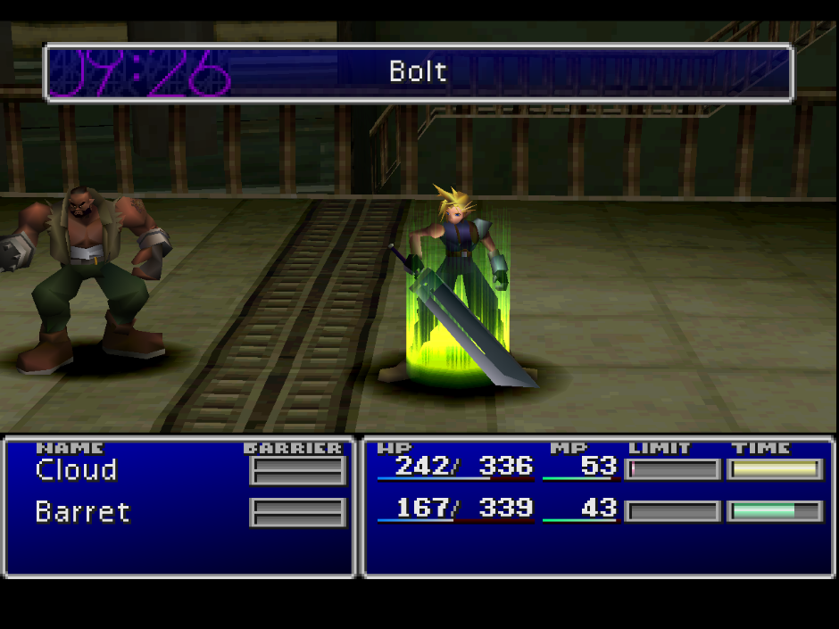 Final Fantasy VII using experimental GL renderer
