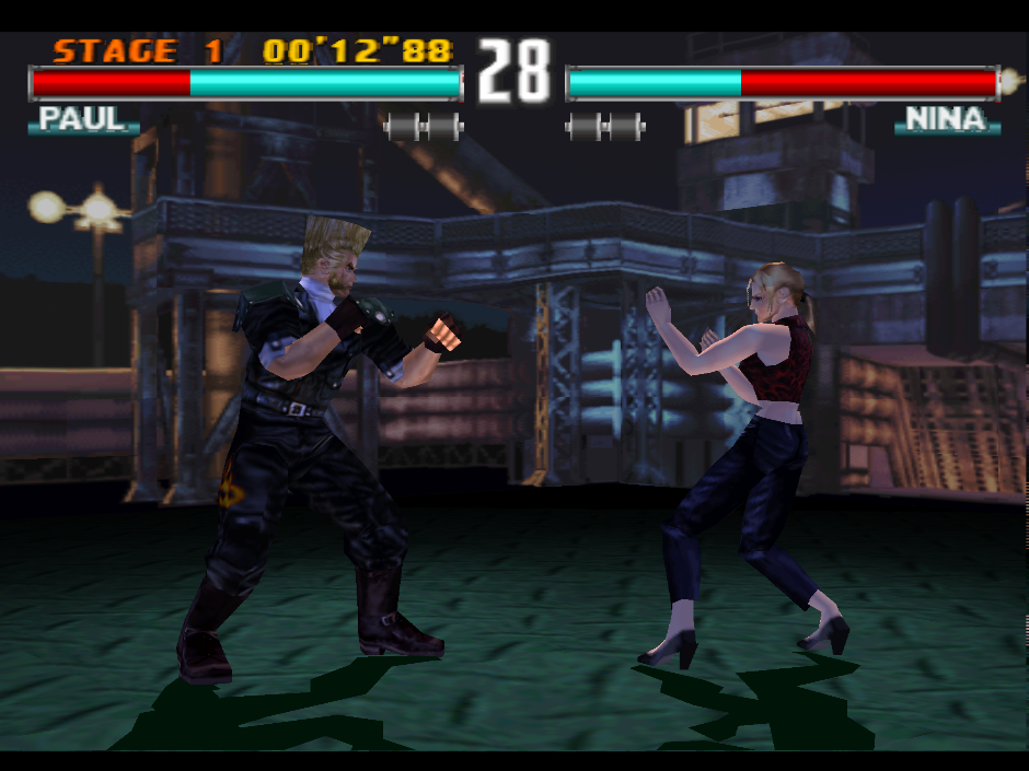 Tekken 3 with experimental GL renderer