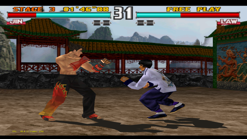 Tekken 3 running at over 10K, being downsampled to 4K.
