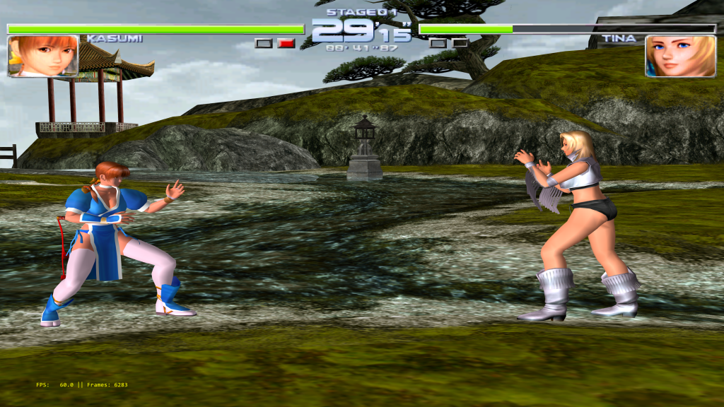 Dead or Alive 2 running at over 12K resolution on Reicast