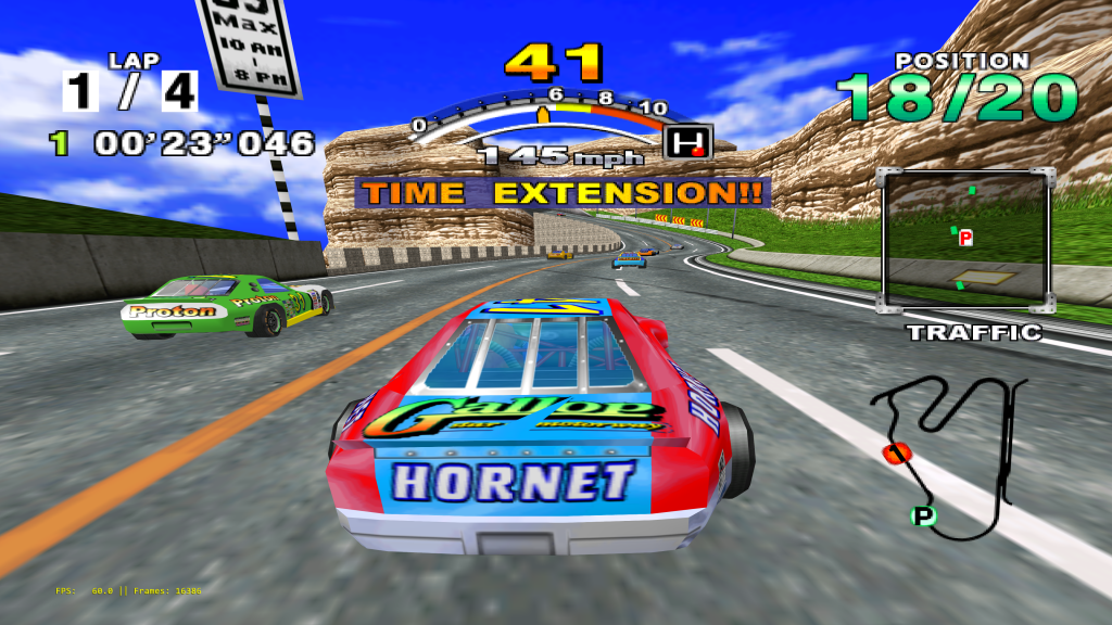 Daytona USA 2001 running at over 12K resolution on Reicast