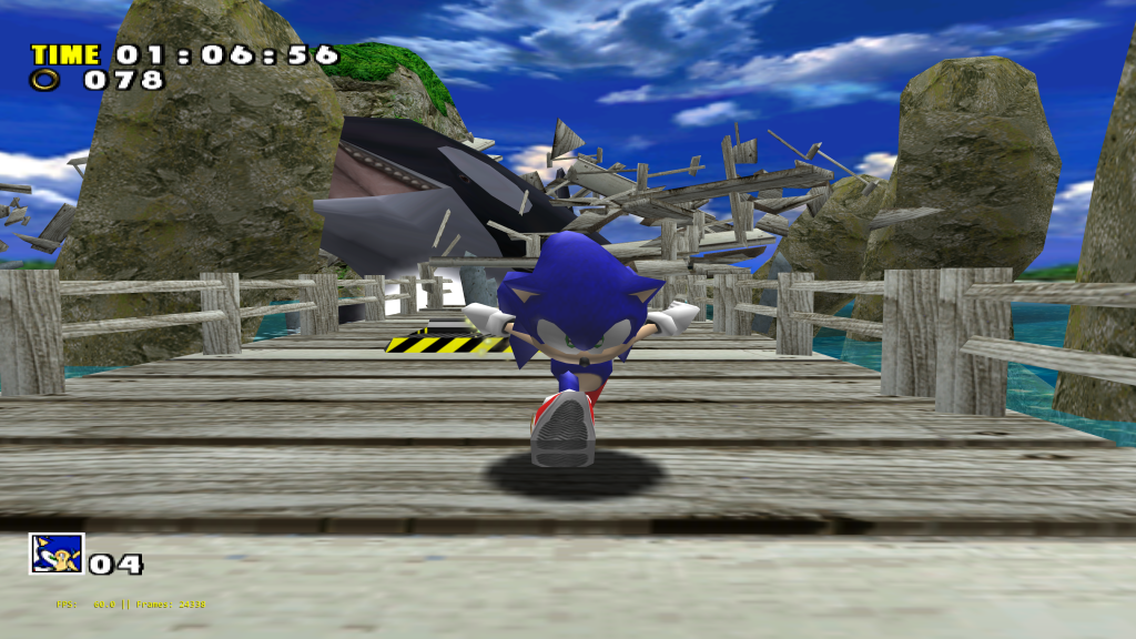 Sonic Adventure running at over 12K resolution on Reicast