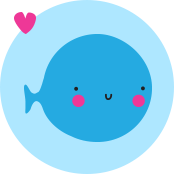 Whale from the Love2D logo