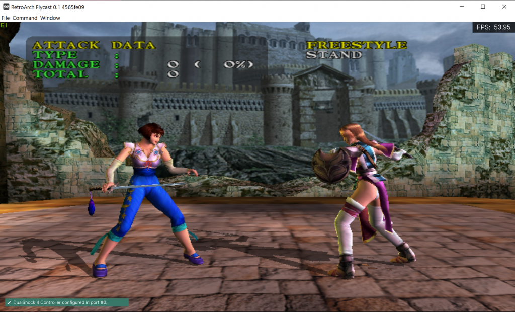 Soul Calibur on Dreamcast with mip-mapping enabled