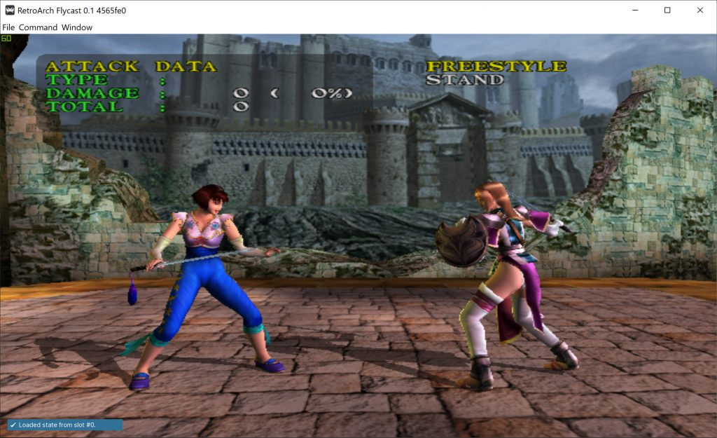 Soul Calibur on Dreamcast with mip-mapping enabled and 16 x AF filtering