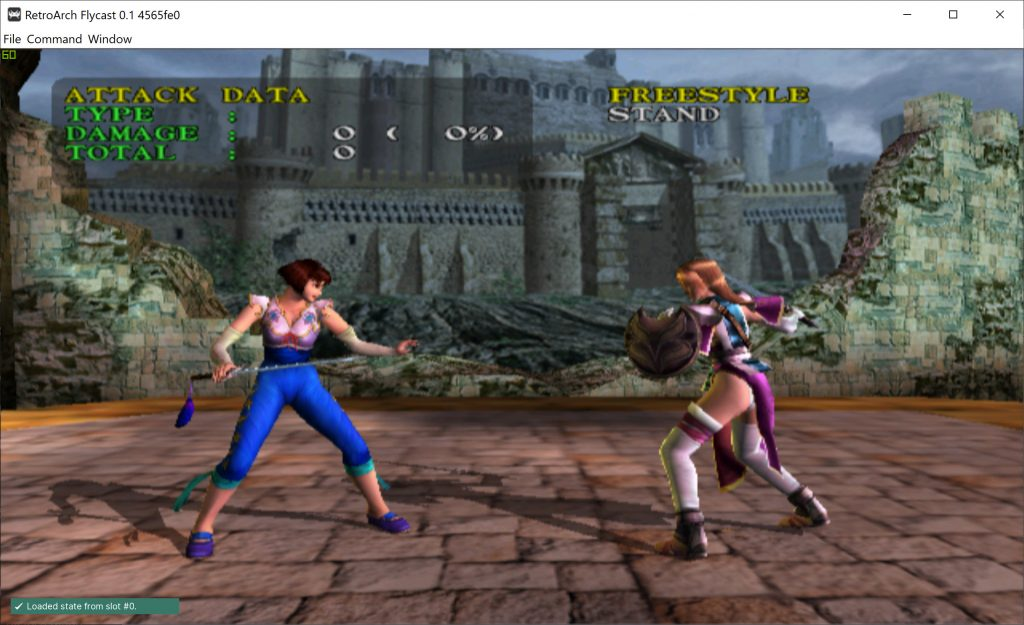 Soul Calibur on Dreamcast with mip-mapping enabled and PowerVR postprocessing filter