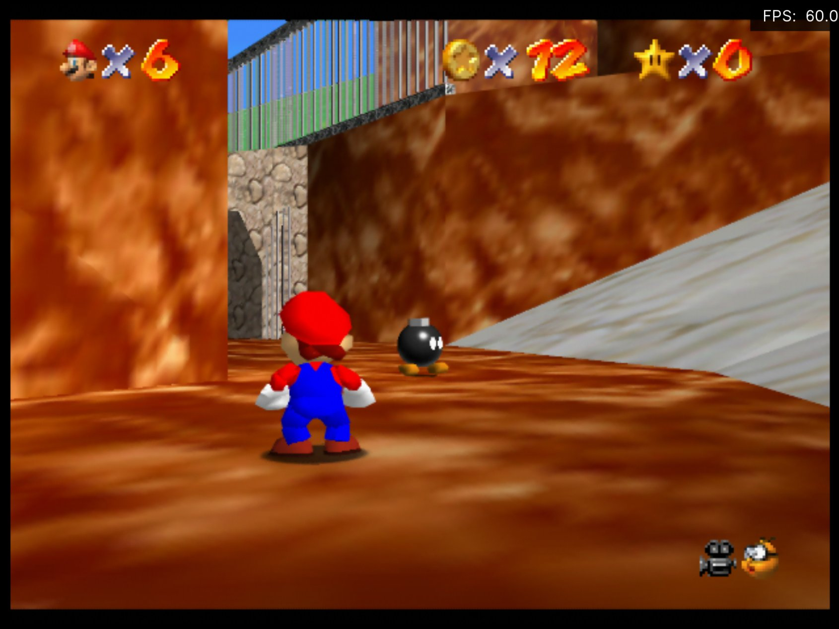 Super Mario 64 running on ParaLLEl RDP with 2x internal upscale