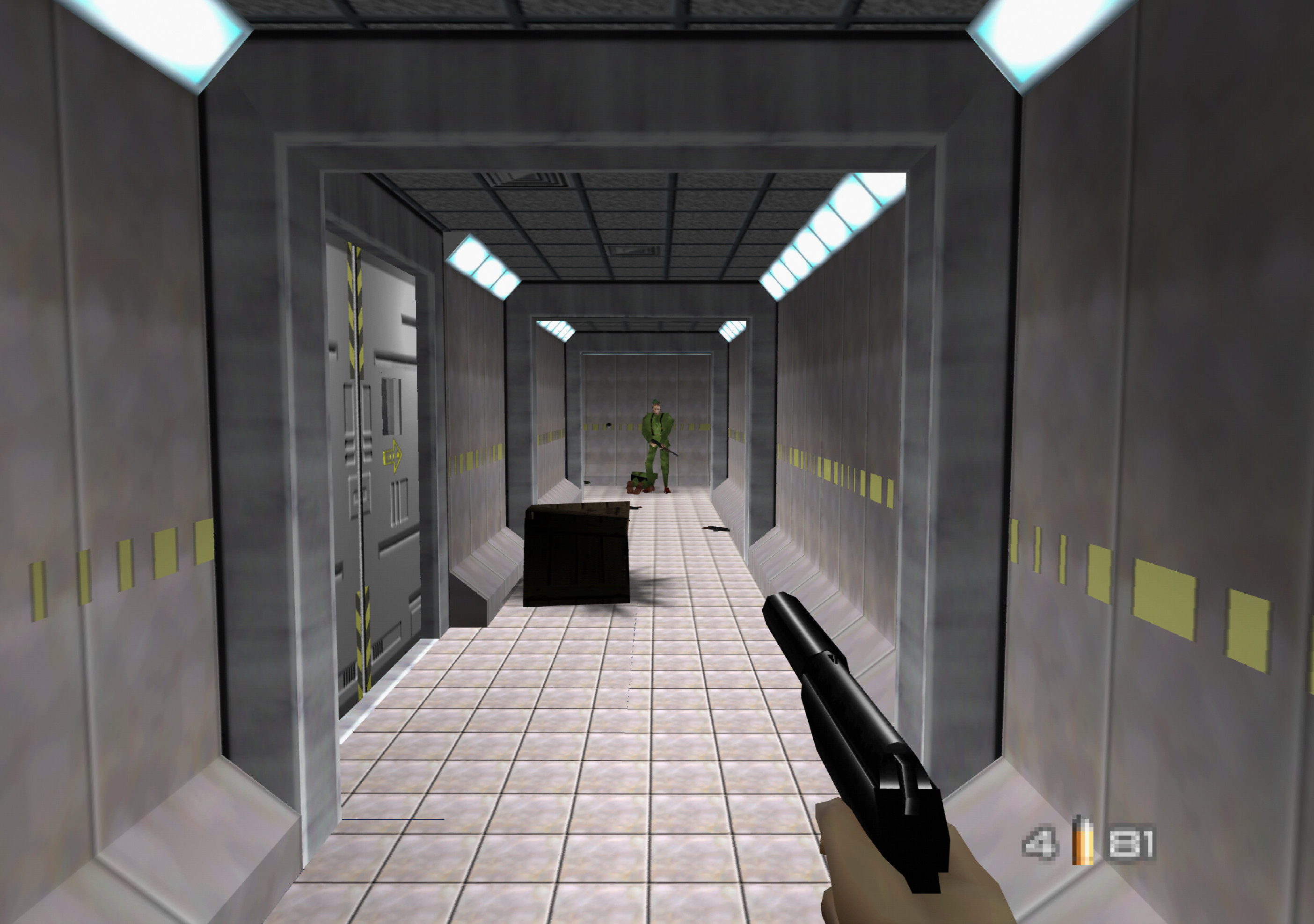 GoldenEye 007 running with ParaLLEl RDP at 8x internal upscale