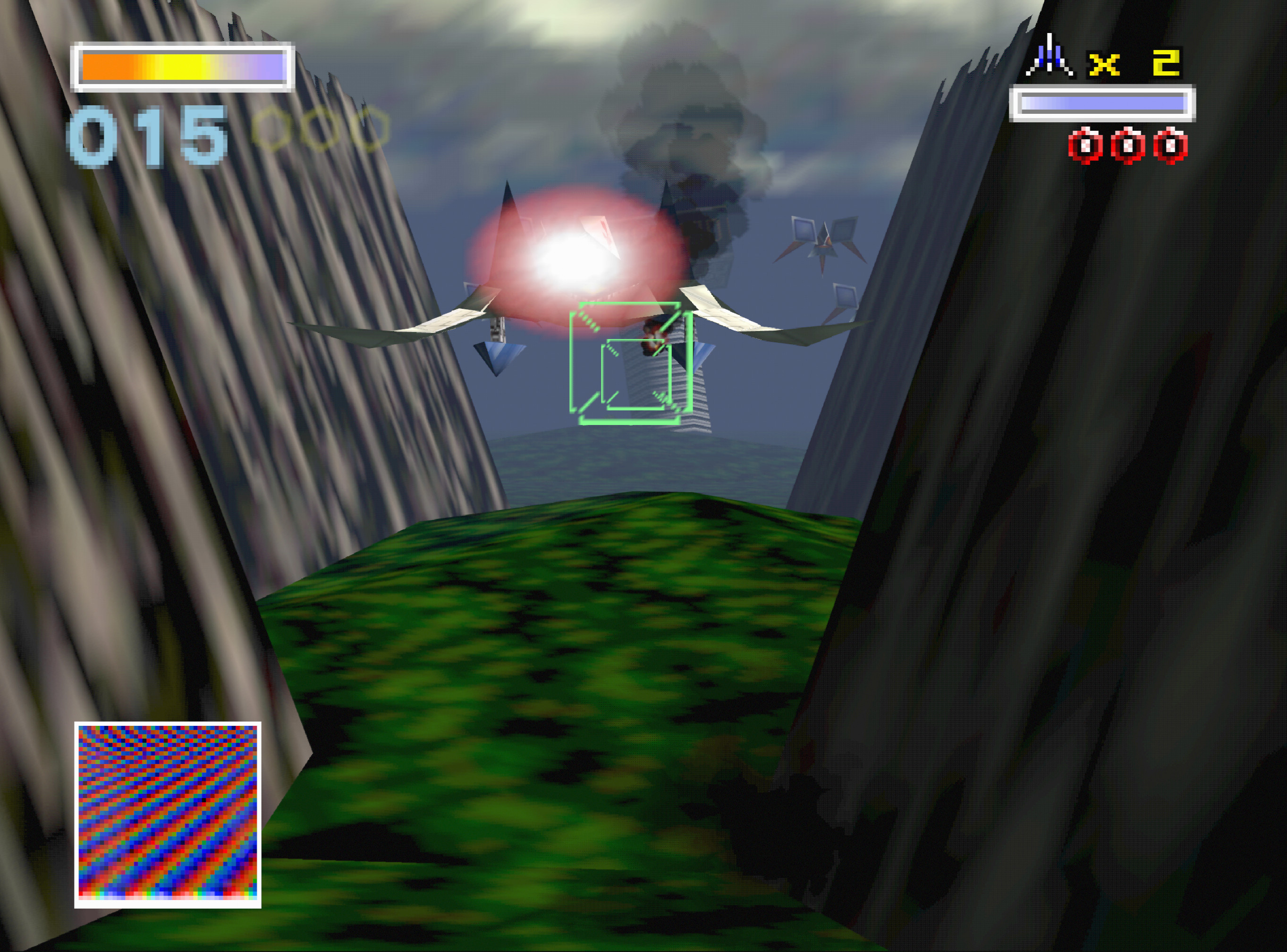Star Fox 64 running on ParaLLEl RDP with 8x internal upscale