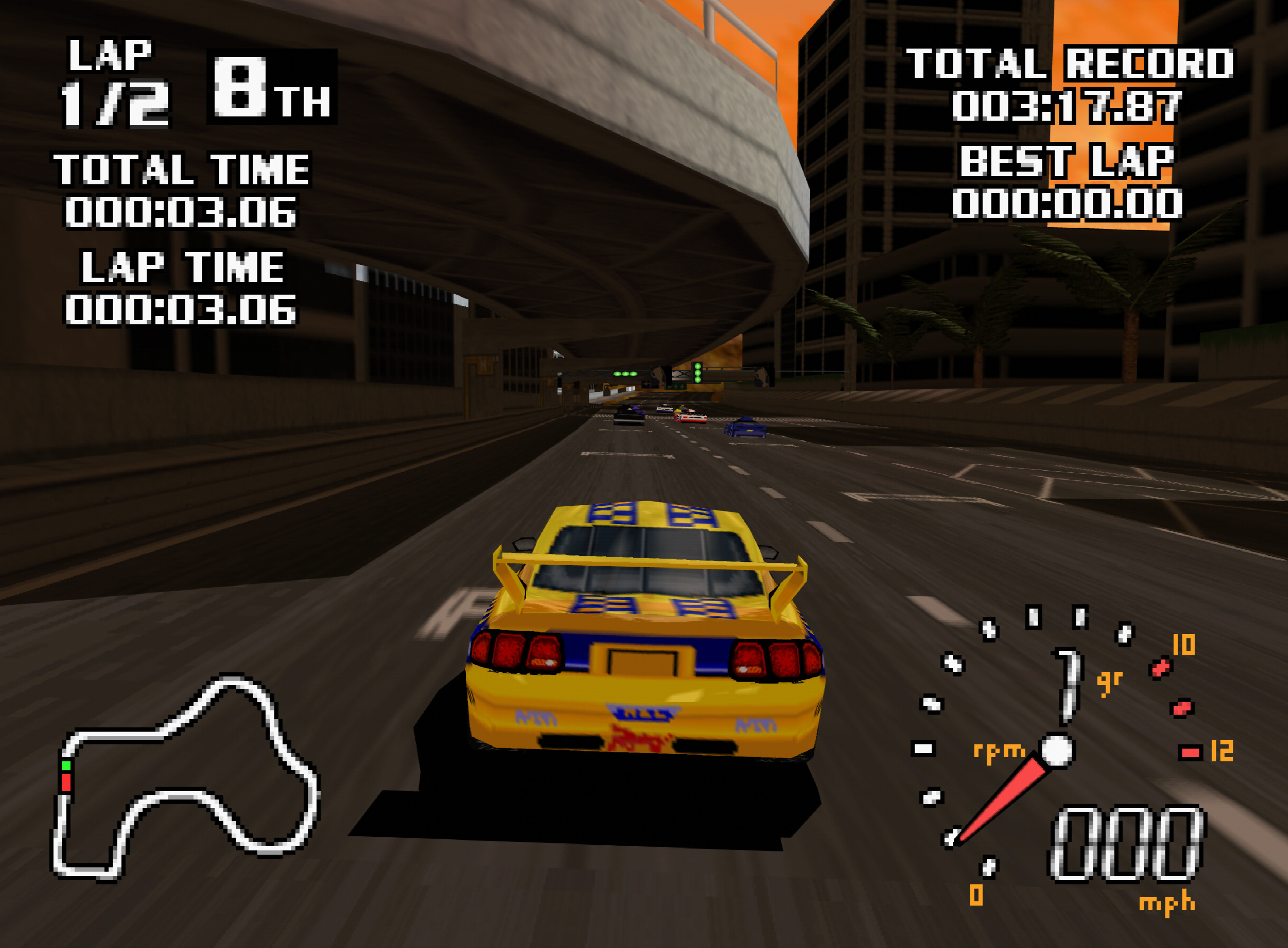 World Driver Championship running on ParaLLEl RDP with 8x internal upscale