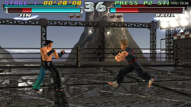 With a no-interlacing patch, Tekken Tag Tournament on PS2 looks visually indistinguishable from the PS3 version that was released years later
